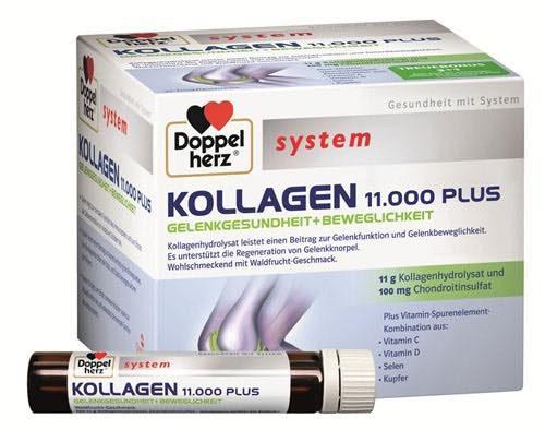 Collagen Thủy Phân Doppelherz Kollagen 11.000 Plus Của Đức