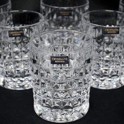 Bộ 6 cốc Bohemia Diamond (Đỉnh cao của pha lê cao cấp)