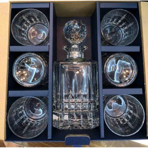 Bộ bình rượu pha lê Bohemia Dover dòng cao cấp nhất, tinh xảo đến từ thương hiệu pha lê số 1 Séc